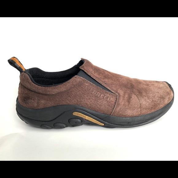 41b1032165811 Merrell Men's Jungle Moc Chocolate Brown Nubuck.  M_5bd8faf845c8b399d0e4c68f. Other Shoes you may like. Merrel Slip On ...